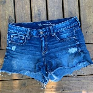 American Eagle | Distressed Stretch Jean Shorts